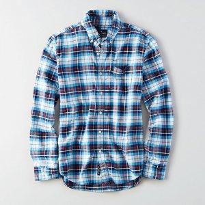 American Eagle Outfitters/アメリカンイーグル本物正規品!メンズ/シャツ-AEO CLASSIC PLAID OXFORD SHIRT-