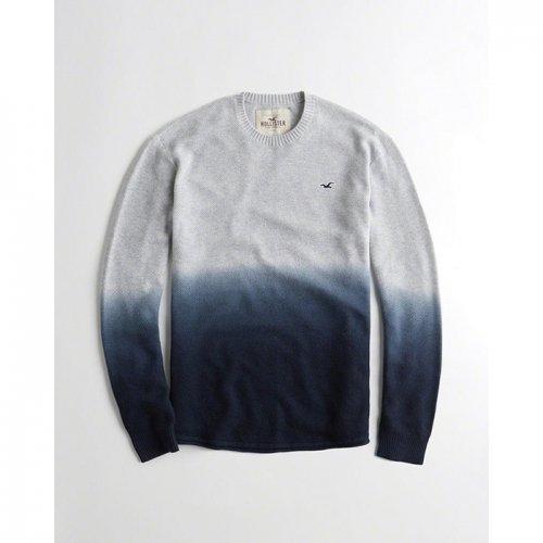ホリスター本物正規品!メンズ【セーター】-Dip-Dyed Textured Curved Hem Sweater-
