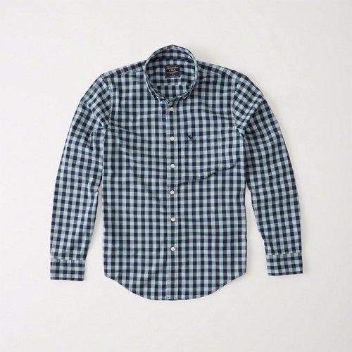 アバクロ本物正規品!メンズ【シャツ】-Mens Icon Poplin Shirt-