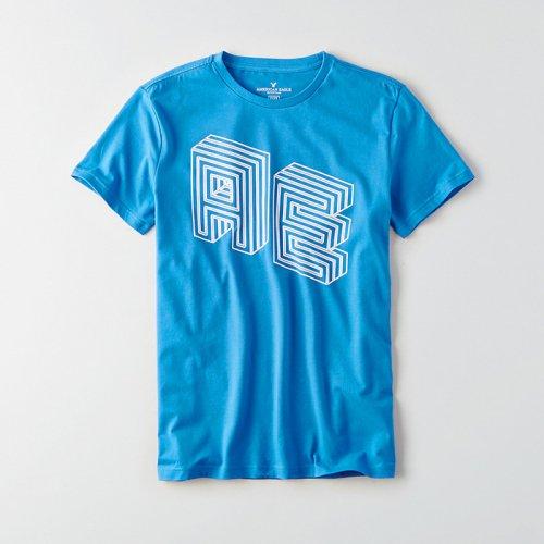 American Eagle Outfitters/アメリカンイーグル本物正規品!メンズ/Tシャツ-AEO Flex logo graphic T-shirt-