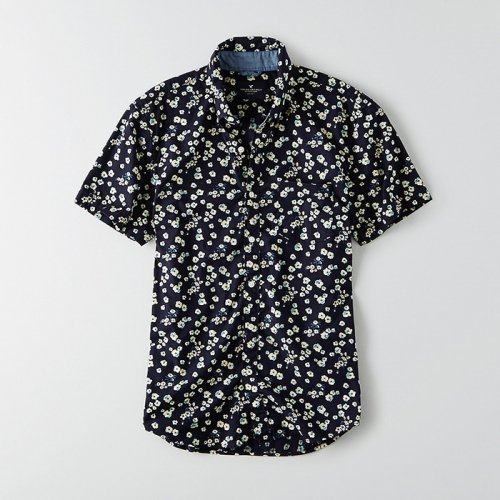 American Eagle Outfitters/アメリカンイーグル本物正規品!メンズ/シャツ-AEO Short Sleeve Floral Print Shirt-