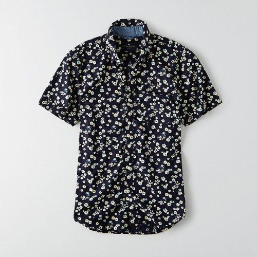 American Eagle Outfitters/アメリカンイーグル本物正規品!メンズ/シャツ-AEO Short Sleeve Floral Print Shirt-