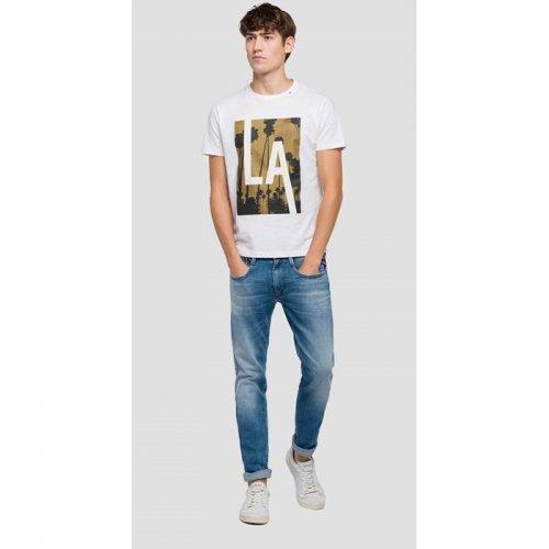 REPLAY/リプレイ本物正規品!メンズ/Tシャツ-OVERSIZED PRINT JERSEY T-SHIRT-