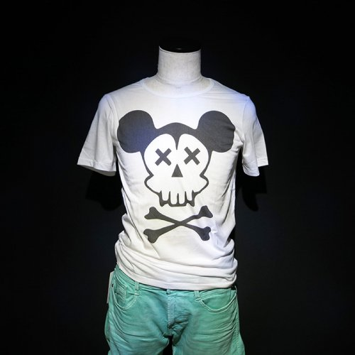 NO COMMENT PARIS/ノーコメントパリ本物正規品!メンズ【Tシャツ】-mickey skull-