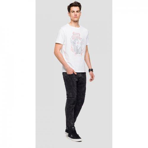 REPLAY/リプレイ本物正規品!メンズ/Tシャツ-FADED PRINT JERSEY T-SHIRT-