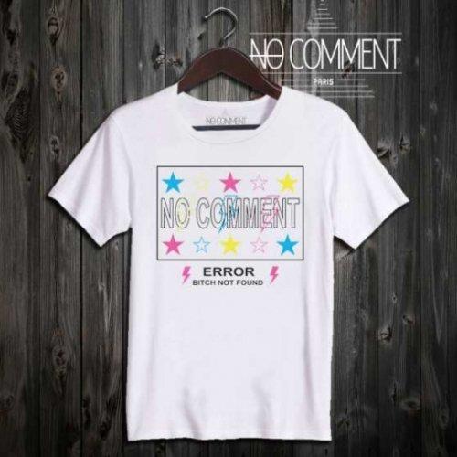 NO COMMENT PARIS/ノーコメントパリ本物正規品!メンズ【Tシャツ】-logo star multi-