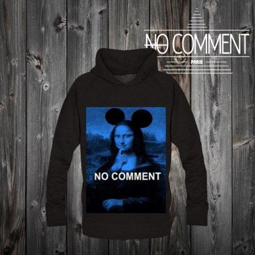 NO COMMENT PARIS/ノーコメントパリ本物正規品!メンズ【スウェット】-monalisa mouse blue-