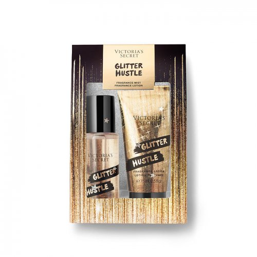 ヴィクトリアシークレット【Mini Mist & Lotion Gift Set】-Glitter Hustle-