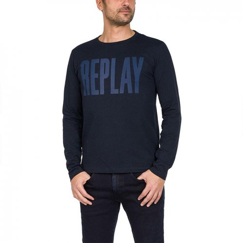 REPLAY/リプレイ本物正規品!メンズ/Tシャツ-T-SHIRT LOGO PRINT-