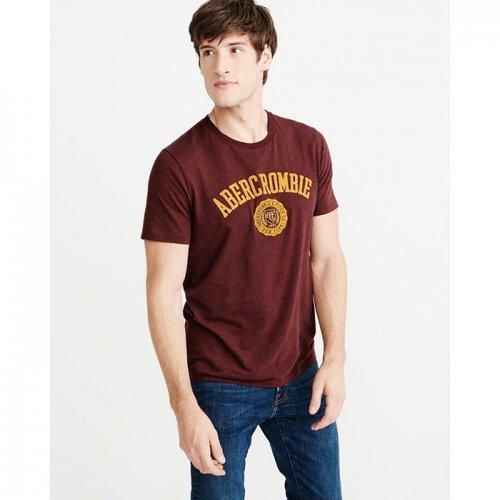 アバクロ本物正規品!メンズ【Tシャツ】-Mens Applique Logo Tee-