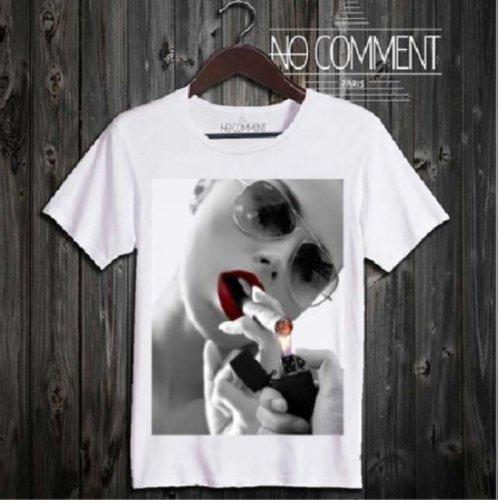 NO COMMENT PARIS/ノーコメントパリ!メンズ【Tシャツ】-cigar and zippo-