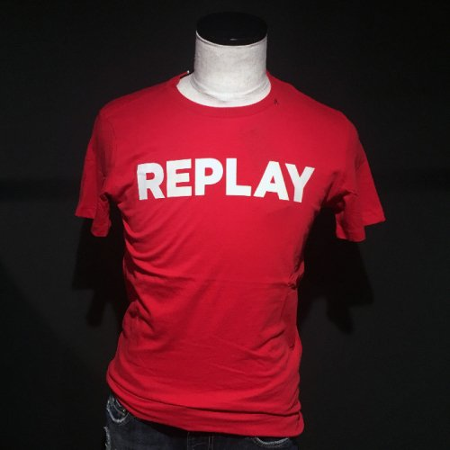 REPLAY/リプレイ!メンズ/Tシャツ-COTTON T-SHIRT PRINTED LOGO-