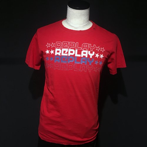 REPLAY/リプレイ!メンズ/Tシャツ-T-SHIRT WITH STAR LOGO-