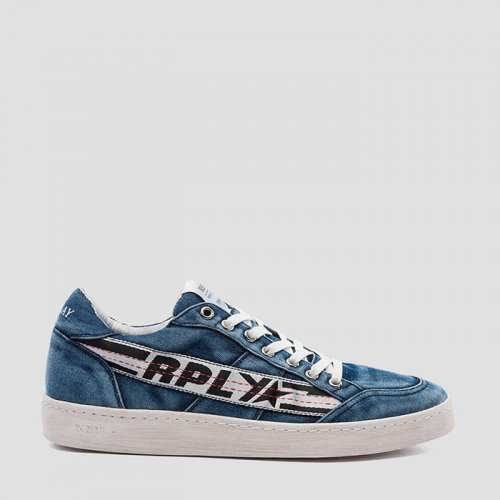 REPLAY/リプレイ本物正規品!【シューズ】-MEN'S DUPREE LACE UP DENIM SNEAKERS-