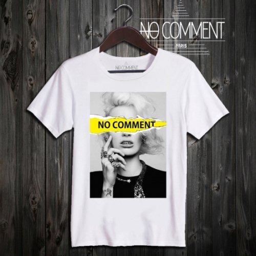 NO COMMENT PARIS/ノーコメントパリ!メンズ【Tシャツ】-yellow tear log-