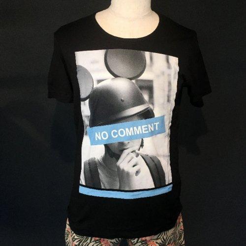 NO COMMENT PARIS/ノーコメントパリ!メンズ【Tシャツ】-mouse helmet-