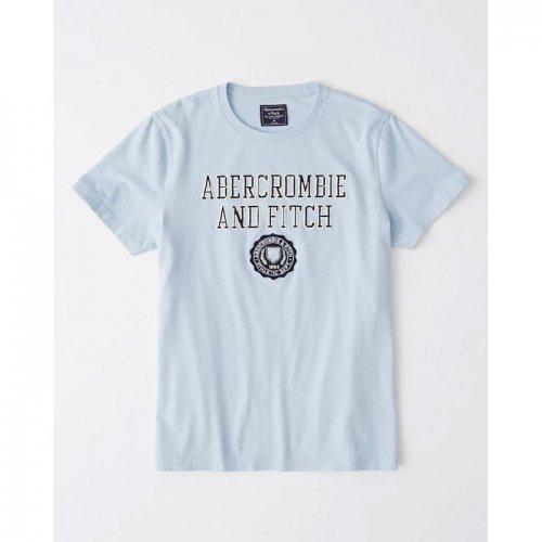 アバクロ本物正規品!メンズ【Tシャツ】-Short-Sleeve Applique Logo Tee-