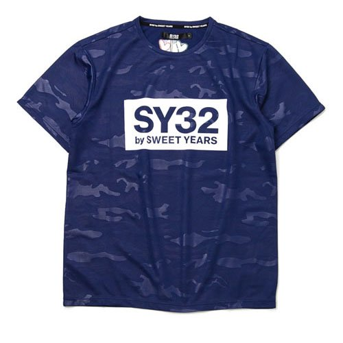 SY32/メンズ【Tシャツ】-【REGULAR】EMBOSS CAMO BOX LOGO TEE-