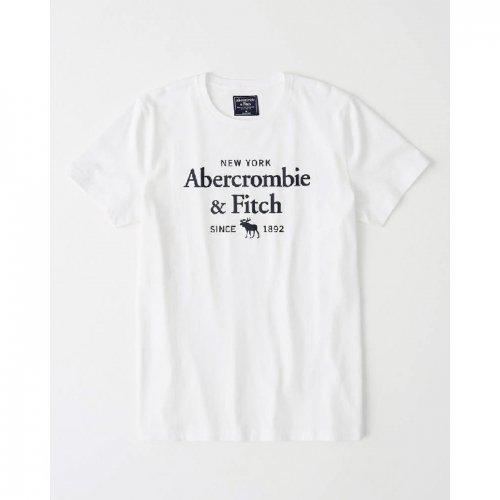 アバクロ本物正規品!メンズ【Tシャツ】-Short-Sleeve Print Logo Tee-
