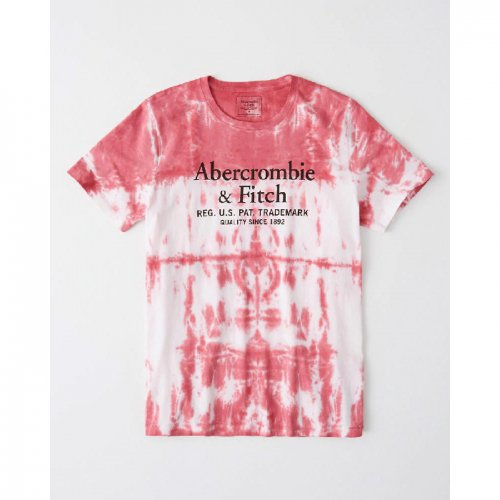 アバクロ本物正規品!メンズ【Tシャツ】-Tie-Dye Logo Tee-