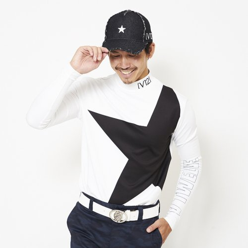 V12/ヴィ・トゥエルブ'メンズ'【Tシャツ】-BIG STAR MOCK-