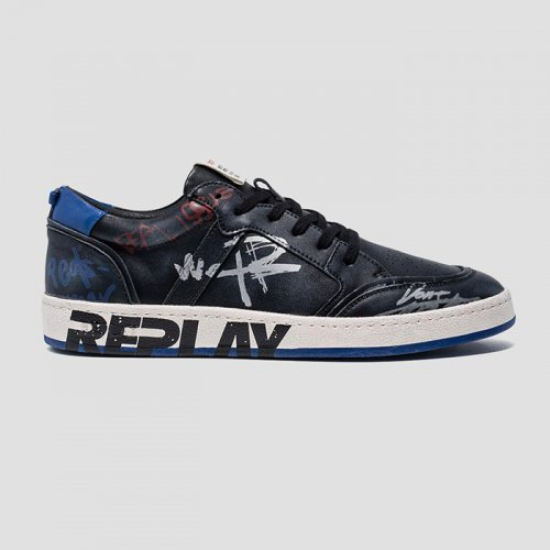 REPLAY/リプレイ本物正規品!【シューズ】-MEN'S ARKSTONE LACE UP SNEAKERS-