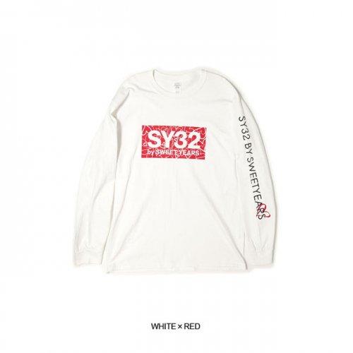 "SY32 by SWEET YEARS/エスワイサーティトゥバイスィートイヤーズ""メンズ""-HEART BOX LOGO L/S TEE-"