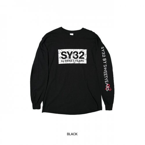 SY32 by SWEET YEARS/エスワイサーティトゥバイスィートイヤーズ【メンズ】-HEART BOX LOGO L/S TEE-