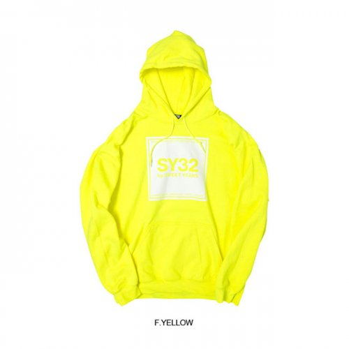 SY32 by SWEET YEARS/エスワイサーティトゥバイスィートイヤーズ【メンズ】-SQUARE LOGO P/O HOODIE-