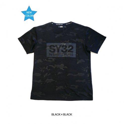 """SY32 by SWEET YEARS/エスワイサーティトゥバイスィートイヤーズ""""メンズ""""-""""GEAR""""EMBOSS CAMO BOX LOGO TEE-"""
