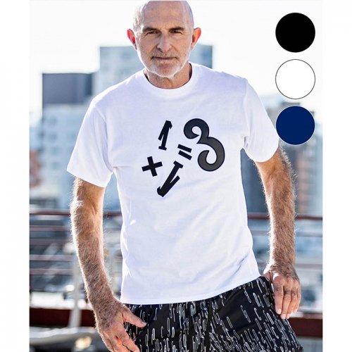 1PIU1UGUALE3 RELAX/ウノピゥウノウグァーレトレ!-1+1=3ワッペンTシャツ-