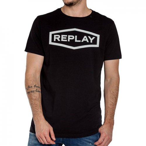 "REPLAY/リプレイ""メンズ""-COTTON REPLAY T-SHIRT-"
