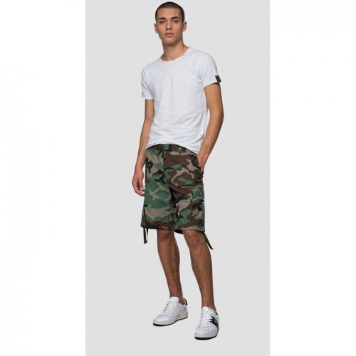 REPLAY/リプレイ【メンズ】-BERMUDA SHORTS WITH CAMOUFLAGE PRINT-