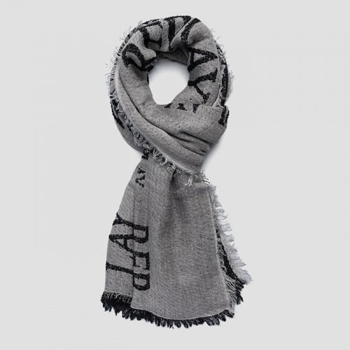 """REPLAY/リプレイ""""メンズ""""-SCARF WITH REPLAY PRINT-"""