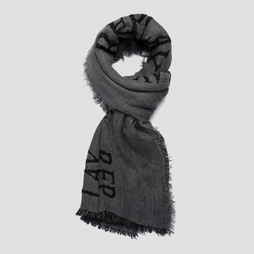 "REPLAY/リプレイ""メンズ""-SCARF WITH REPLAY PRINT-"