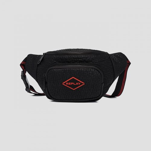 REPLAY/リプレイ【バッグ】-REPLAY WAIST BAG WITH EMBOSSED EFFECT-