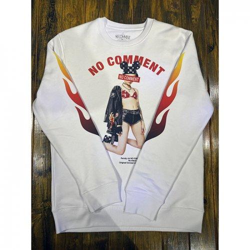 NO COMMENT PARIS/ノーコメントパリ【ユニセックス】-flame leather jkt-