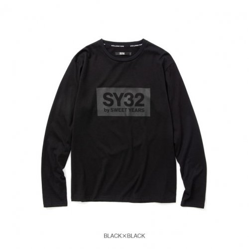 SY32 by SWEET YEARS/エスワイサーティトゥバイスィートイヤーズ-BOX LOGO L/S TEE-