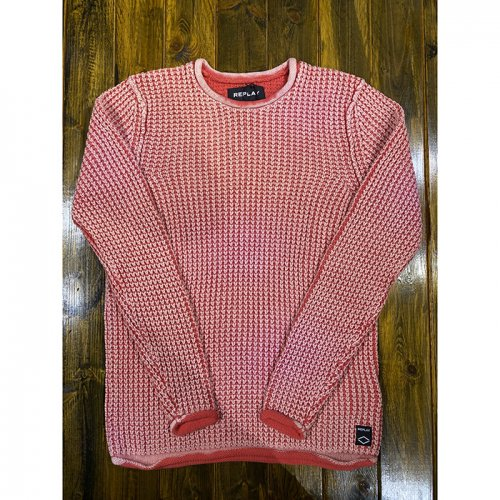 "REPLAY/リプレイ""メンズ""-KNIT CREWNECK SWEATER-"