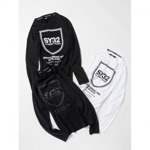 SY32 by SWEET YEARS/エスワイサーティトゥバイスィートイヤーズ-SHIELD EMBLEM L/S TEE-