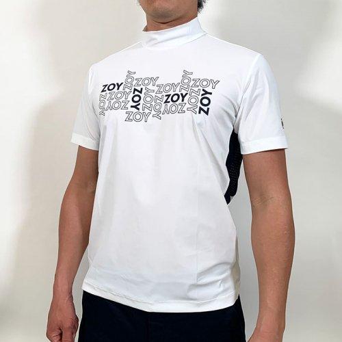 ZOY/ゾーイ-Euro jersey short sleeve mock neck-