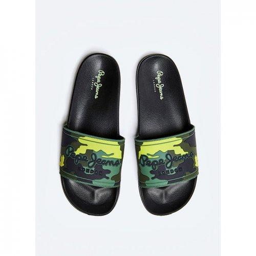 Pepe Jeans/ペペジーンズ-SLIDER MIMETIC PRINTED FLIP-FLOPS-