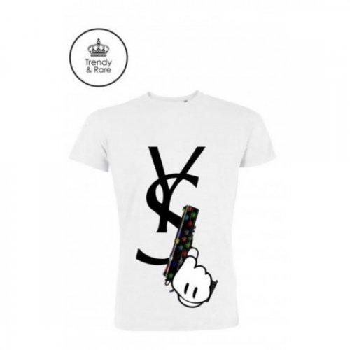 Trendy & Rare (トレンディ&レア) 【ユニセックス】-T-shirt YSGUN White-