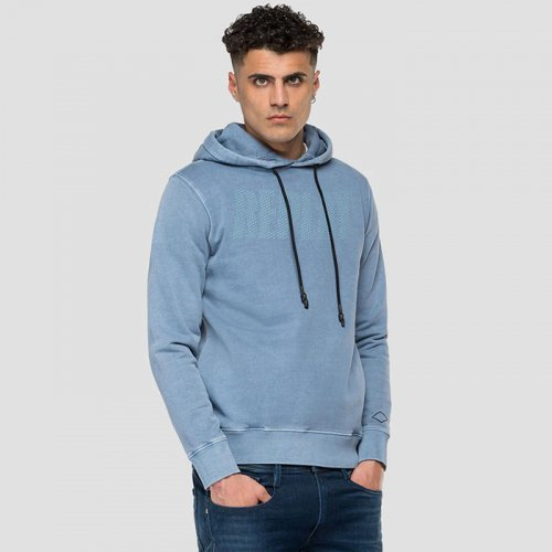 """REPLAY/リプレイ""""メンズ""""-REPLAY HOODIE WITH POCKETS"""