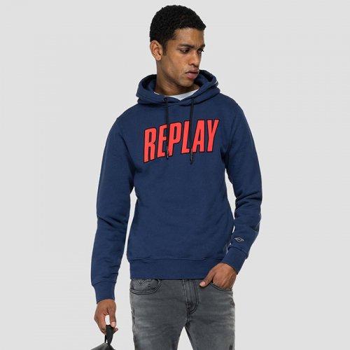 "REPLAY/リプレイ""メンズ""-ORGANIC COTTON REPLAY HOODIE-"