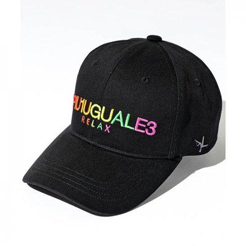 1PIU1UGUALE3 RELAX/ウノピゥウノウグァーレトレ!-レインボーロゴ刺繍キャップ-