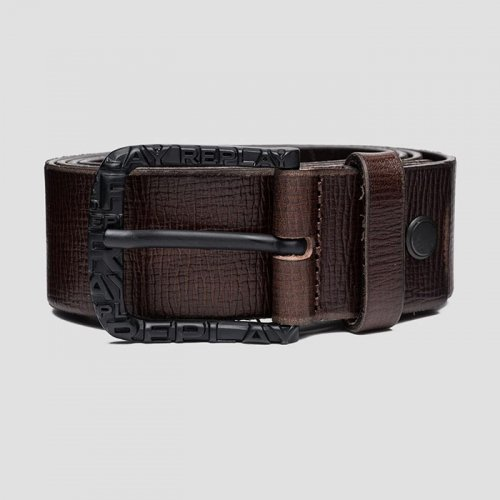"""REPLAY/リプレイ""""メンズ""""-REPLAY BELT IN PATTERNED LEATHER-"""