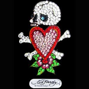 EdHardy/エドハーディー本物正規品!【携帯デコ】-Skull in Love Mini Rhinestone Decal-