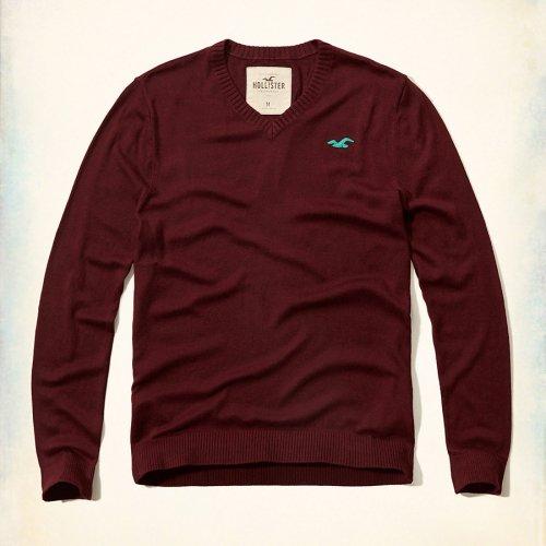 ホリスター本物正規品!メンズ【ニット】-Iconic V-Neck Sweater-