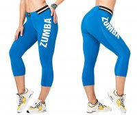 <img class='new_mark_img1' src='https://img.shop-pro.jp/img/new/icons5.gif' style='border:none;display:inline;margin:0px;padding:0px;width:auto;' />【ZUMBA】ズンバ Zumba All Star High Waist Capri Leggings 2019夏2 ォールスターカプリレギンス/ブルー